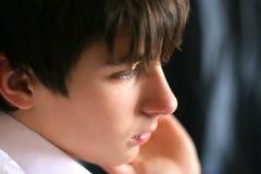 Sad teenager. Portrait close up Stock Photos