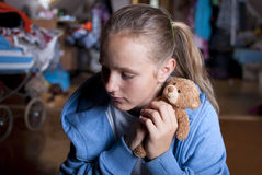Sad teenager. Is scared and abused Stock Photo