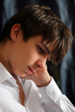 Sad Teenager. Sad and Sorrowful teenager portrait closeup Royalty Free Stock Photos