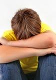 Sad Teenager closeup Stock Images