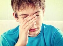 Sad Teenager closeup stock photography