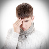 Sad Teenager feel Headache Stock Images