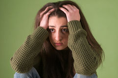Sad teenager girl Royalty Free Stock Photos