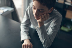 Sad teenager at home Royalty Free Stock Photo