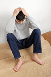 Sad Teenager at Home Stock Photography