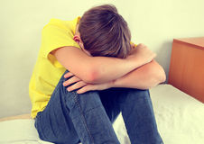 Sad Teenager at Home Royalty Free Stock Images