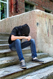 Sad Teenager outdoor Stock Image