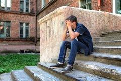 Sad Teenager outdoor Stock Photos