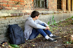 Sad Teenager outdoor Stock Photos