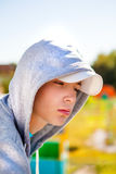 Sad Teenager outdoor Royalty Free Stock Photos