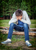 Sad Teenager outdoor Royalty Free Stock Images