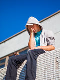 Sad Teenager outdoor Stock Image