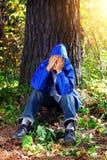 Sad Teenager outdoor Royalty Free Stock Image