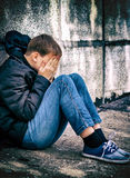 Sad Teenager outdoor Royalty Free Stock Image