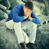 Sad Teenager outdoor Royalty Free Stock Photo