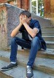 Sad Teenager outdoor Royalty Free Stock Photos