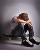 Sad teenager Royalty Free Stock Photography