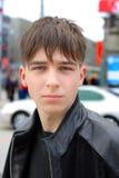 Sad teenager on the street Stock Photos