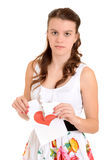 Sad teenager on valentines day Royalty Free Stock Photography