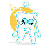 Sad teeth Royalty Free Stock Images
