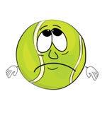 Sad tennis ball cartoon Stock Photo