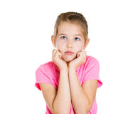 Sad thoughtful little girl Royalty Free Stock Images