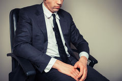 Sad and tired businessman Royalty Free Stock Image