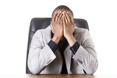 Sad, tired or depressed businessman Royalty Free Stock Images