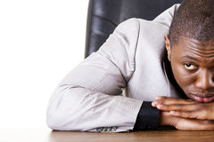Sad, tired or depressed businessman Stock Image
