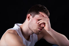 Sad and tired man Royalty Free Stock Images