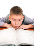 Sad and Tired Schoolboy Stock Image