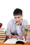 Sad and Tired Student Stock Images