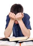 Sad and Tired Student Royalty Free Stock Images