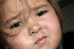 Sad Toddler. Young child with a sad face Stock Photography