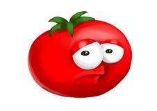 Sad tomato vector illustration