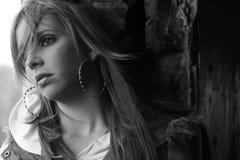 SAD tonårs- för flicka Royaltyfri Foto