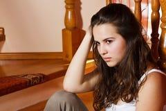 SAD tonårs- för flicka Royaltyfri Bild