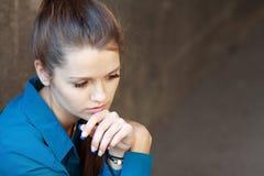 SAD tonårs- för flicka Royaltyfri Fotografi