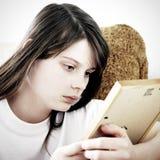 SAD tonårs- för flicka Arkivfoton