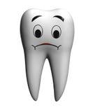 Sad tooth royalty free stock photo