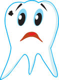 Sad tooth caries Royalty Free Stock Photo