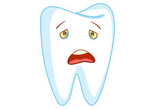 Sad Tooth Cartoon Character Illustration Royalty Free Stock Photo
