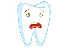 Sad Tooth Cartoon Character Illustration Royalty Free Stock Photo