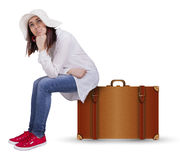 Sad traveler Stock Photos