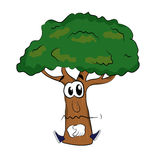 Sad tree cartoon Stock Photography