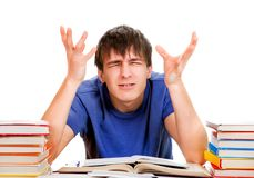 Sad and Troubled Student Royalty Free Stock Images