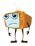 Sad Tv royalty free illustration