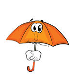Sad Umbrella cartoon Royalty Free Stock Photography