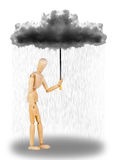 Sad umbrella Royalty Free Stock Photography