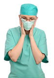 Sad unhappy nurse or doctor Stock Photo